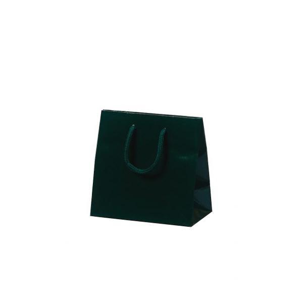キュートバッグ 手提袋 120×70×115mm 100枚 ダークグリーン 5932 [ラッピング不可][代引不可][同梱不可]
