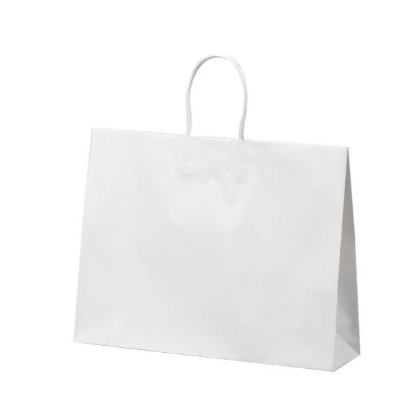 マットバッグ(Y) 手提袋 430×110×320mm 50枚 ホワイト 1075 [ラッピング不可][代引不可][同梱不可]