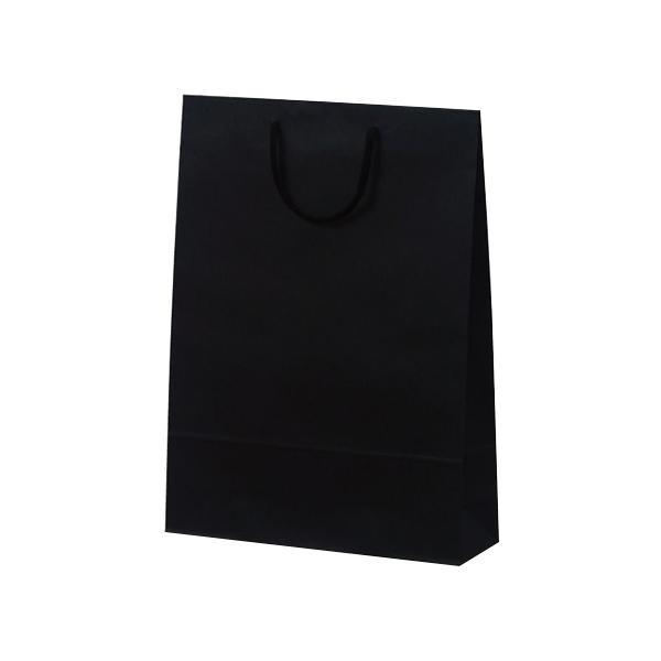 T-8 カラークラフト 紙袋 330×100×450mm 100枚 ブラック 1039 [ラッピング不可][代引不可][同梱不可]