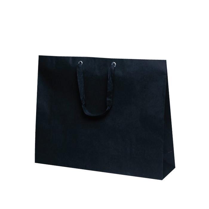 T-ショルダー 13 紙袋 500×130×400mm 50枚 黒無地 1987 [ラッピング不可][代引不可][同梱不可]