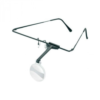 エッシェンバッハ ラボ・フレーム 眼鏡のように耳に掛けるフレームタイプの作業用ルーペ (4.0倍) 1644-54