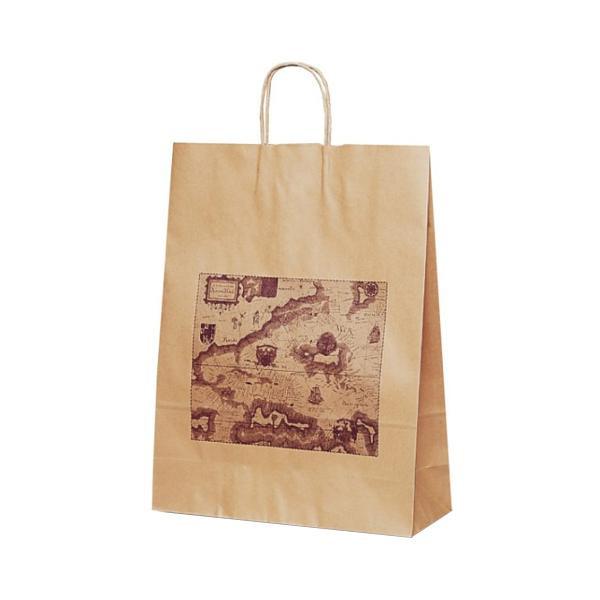 T-12 自動紐手提袋 紙袋 紙丸紐タイプ 380×145×500mm 200枚 マップ 1428 [ラッピング不可][代引不可][同梱不可]