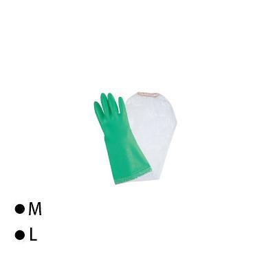 東和コーポレーション(TOWA) 腕カバー付手袋 ビニスター腕カバー付 フルールあつ手 グリーン 10双 721 M [ラッピング不可][代引不可][同梱不可]