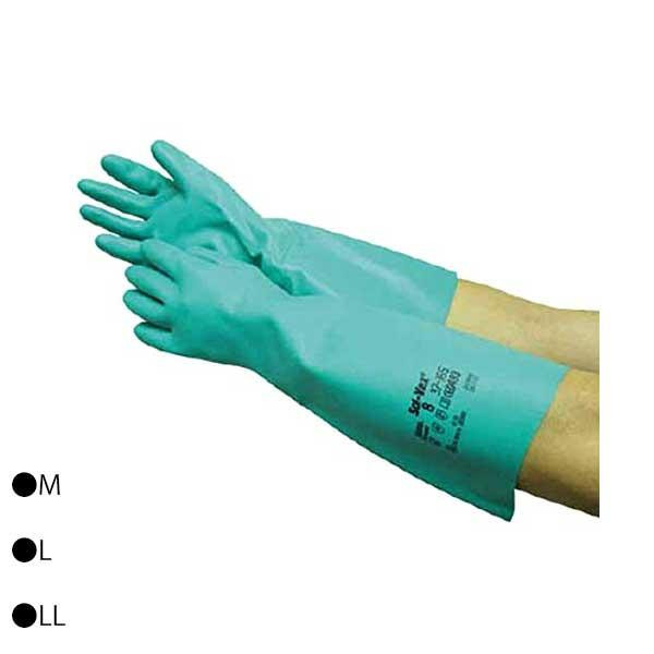 東和コーポレーション(TOWA) 耐薬品・耐溶剤用手袋 ソルベックスあつ手(半長) 10双 グリーン 165 M [ラッピング不可][代引不可][同梱不可]