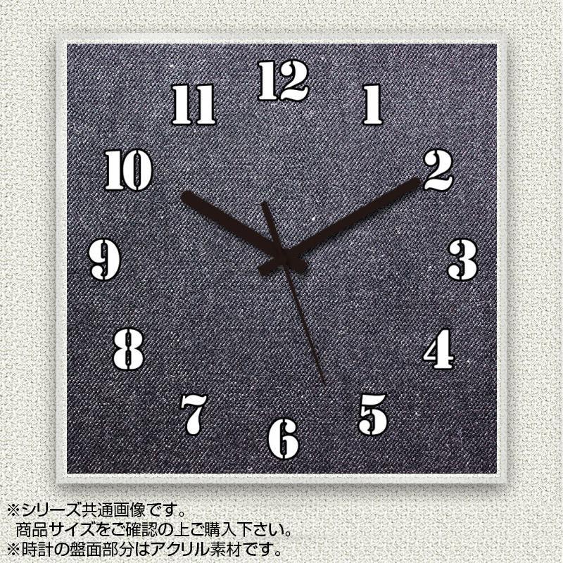 MYCLO(マイクロ) 壁掛け時計 アクリル素材(クリア) 四角 30cm デニム com373