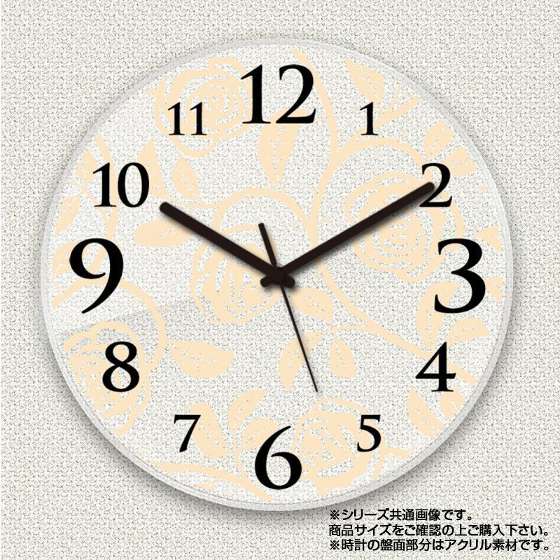 MYCLO(マイクロ) 壁掛け時計 アクリル素材(クリア) 丸型 23cm 薔薇(バラ) com488