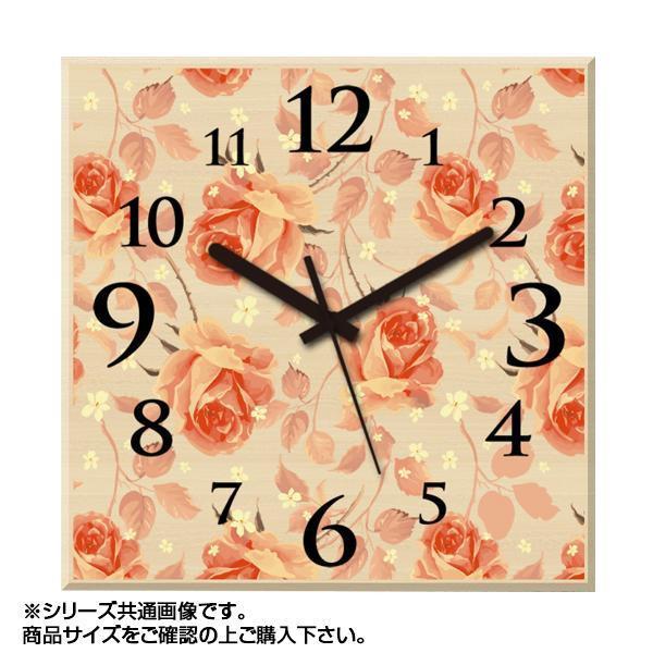 MYCLO(マイクロ) 壁掛け時計 ウッド素材(メープル) 四角 30cm 薔薇(バラ) com511