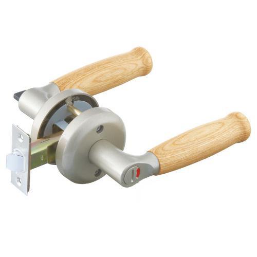 レバー錠 エクレ 兼用取替レバー錠 表示錠 EL300-4MW-ST-60 シルバー 木製レバー 012-6420