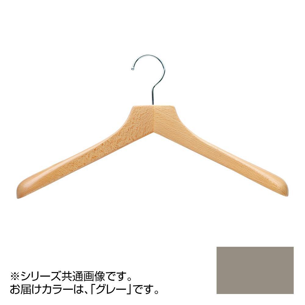 日本製 木製ハンガーメンズ用 T-5250 グレー 5本セット 肩幅42cm×肩厚4cm