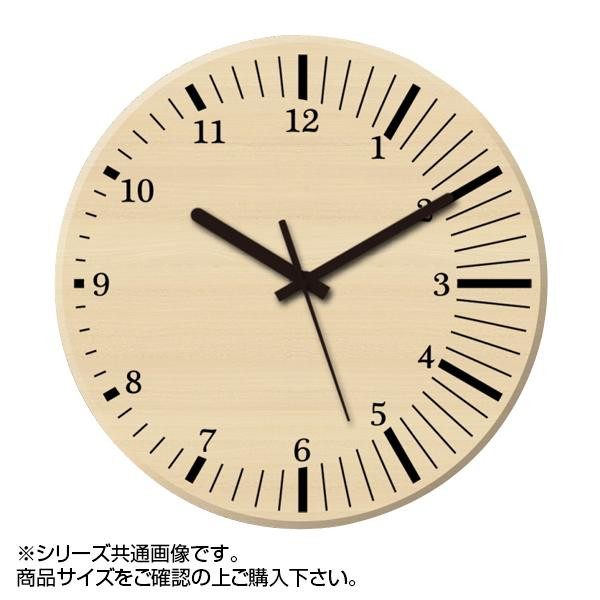 MYCLO(マイクロ) 壁掛け時計 ウッド素材(メープル) 丸型 30cm 木製時計 com424