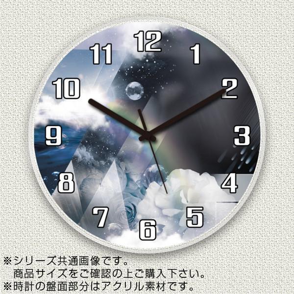 MYCLO(マイクロ) 壁掛け時計 アクリル素材(クリア) 丸型 30cm 空 com638
