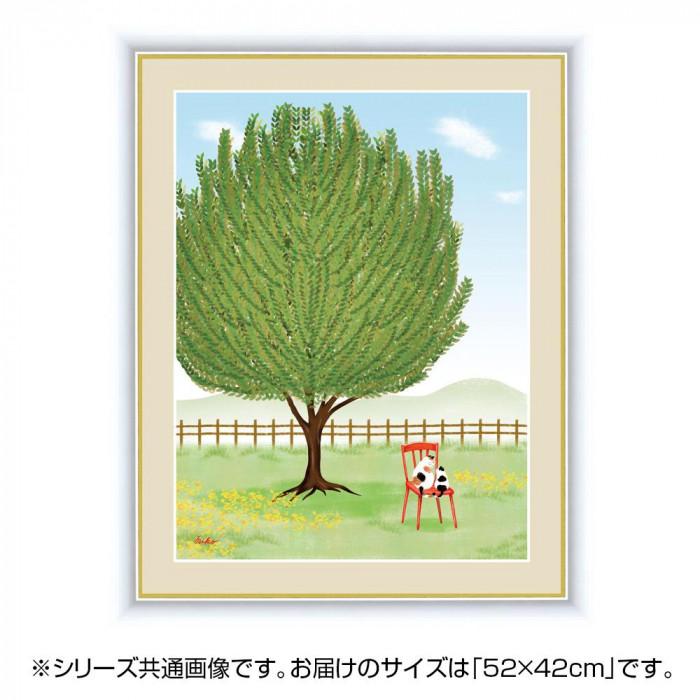 アート額絵 鈴木 みこと(すずき みこと) 「月桂樹」 G4-CM002 52×42cm