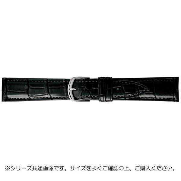 BAMBI バンビ 時計バンド グレーシャス ワニ革 黒(美錠:白) BWA019AO