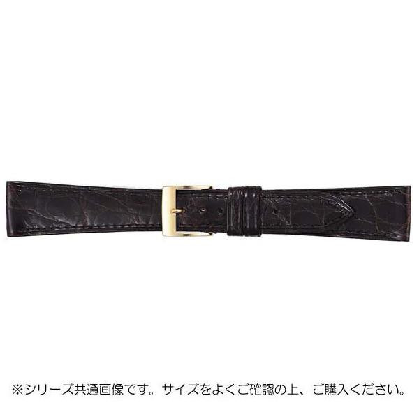 BAMBI バンビ 時計バンド グレーシャス ワニ革 チョコ(美錠:金) BWA112BO