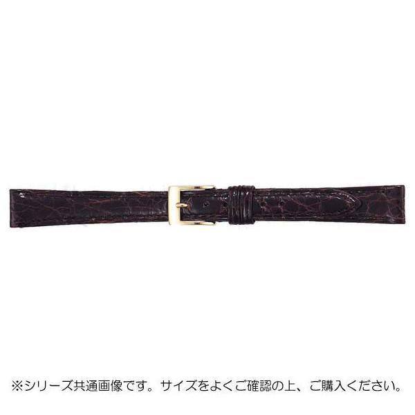 BAMBI バンビ 時計バンド グレーシャス ワニ革 チョコ(美錠:金) BWA113BF