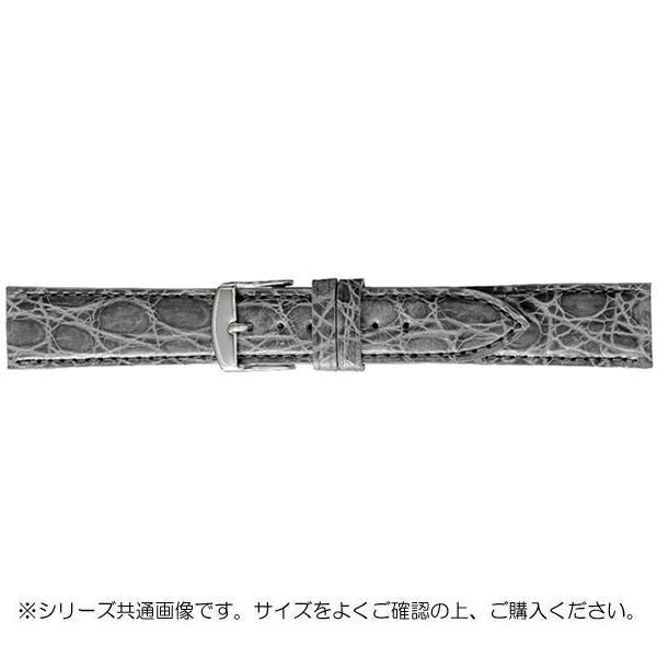BAMBI バンビ 時計バンド エルセ ワニ革 グレー(美錠:白) SWA007GP