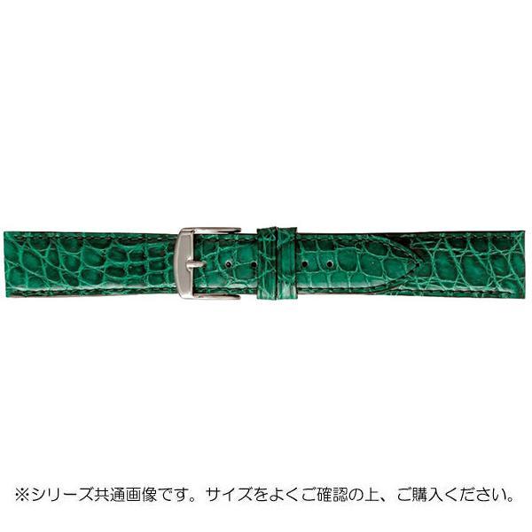 BAMBI バンビ 時計バンド エルセ ワニ革 グリーン(美錠:白) SWA007MI