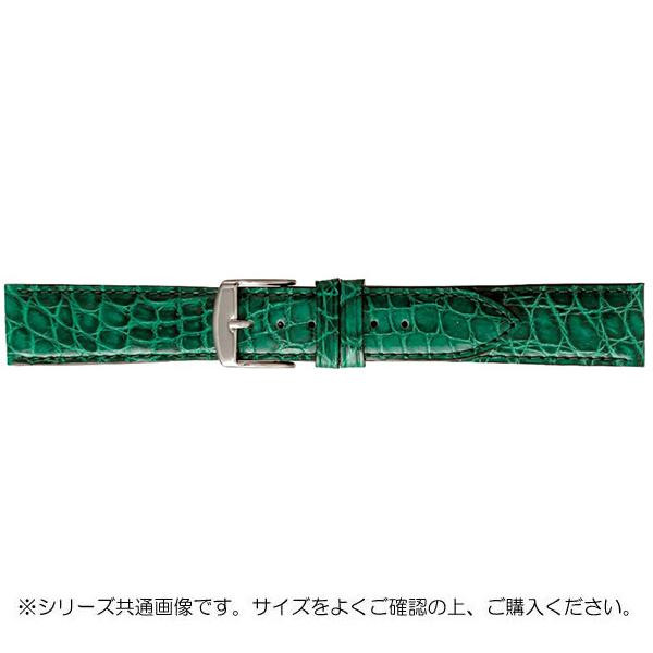BAMBI バンビ 時計バンド エルセ ワニ革 グリーン(美錠:白) SWA007MP