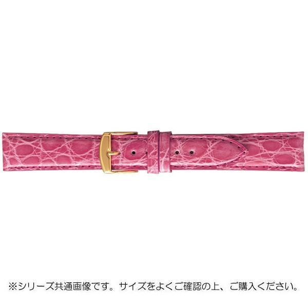 BAMBI バンビ 時計バンド エルセ ワニ革 ピンク(美錠:金) SWA007PS