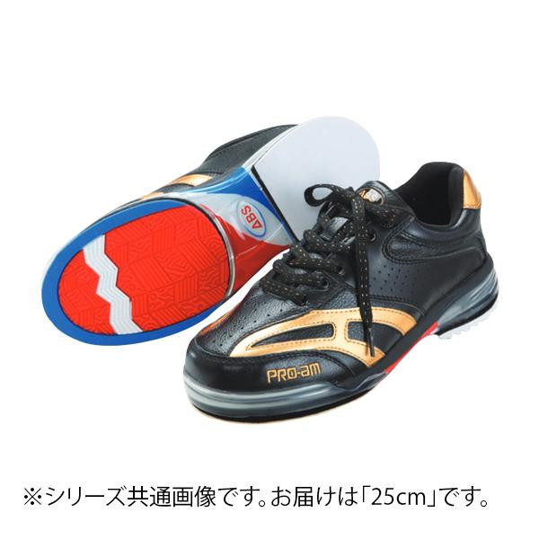 ABS ボウリングシューズ ABS CLASSIC 左右兼用 ブラック・ゴールド 25cm