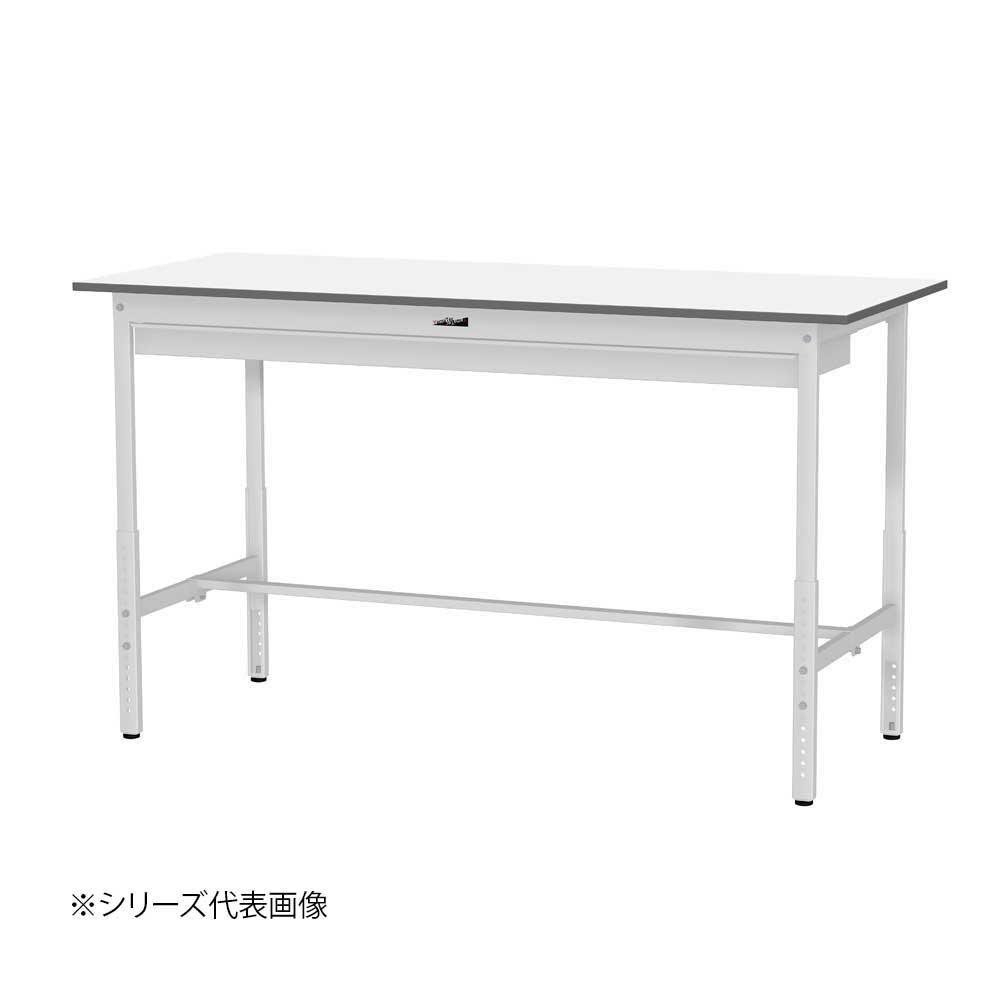YamaTec SUPAH-1860W-WW ワークテーブル 150シリーズ 高さ調整(H900~1200mm)(ワイド引出し付き) [ラッピング不可][代引不可][同梱不可]