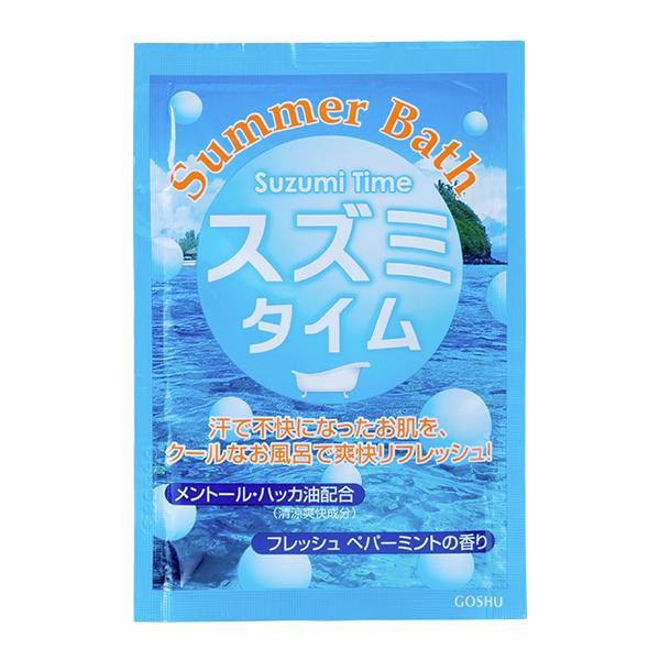五洲薬品 入浴用化粧品 Summer Bath(サマーバス) スズミタイム (25g×10包)×12箱 SB-ST