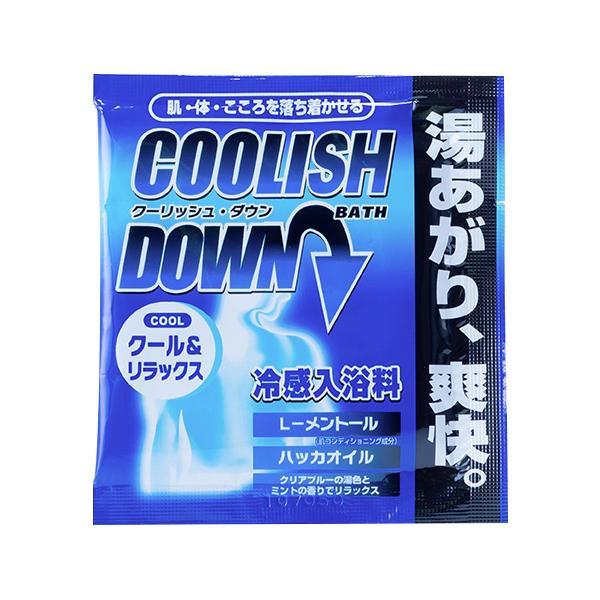 五洲薬品 入浴用化粧品 TOPBATH(トップバス) クーリッシュDOWN (25g×10包)×12箱 [ラッピング不可][代引不可][同梱不可]