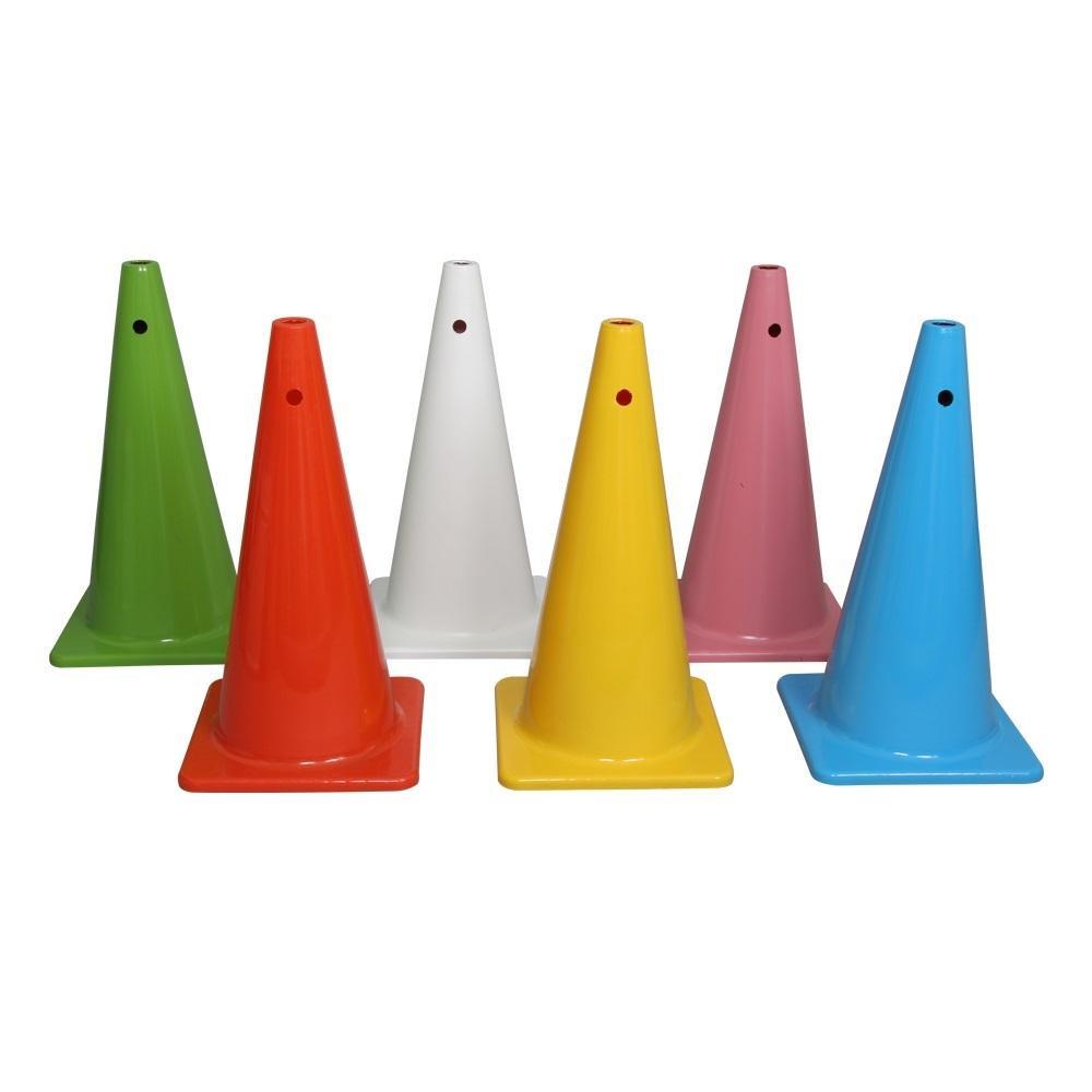 6色カラーコーンセット 大型(穴付) A-2606 [ラッピング不可][代引不可][同梱不可]