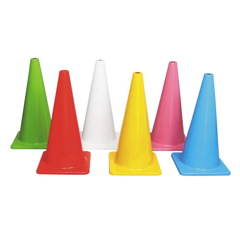 6色カラーコーンセット 大型(穴無) A-2602 [ラッピング不可][代引不可][同梱不可]