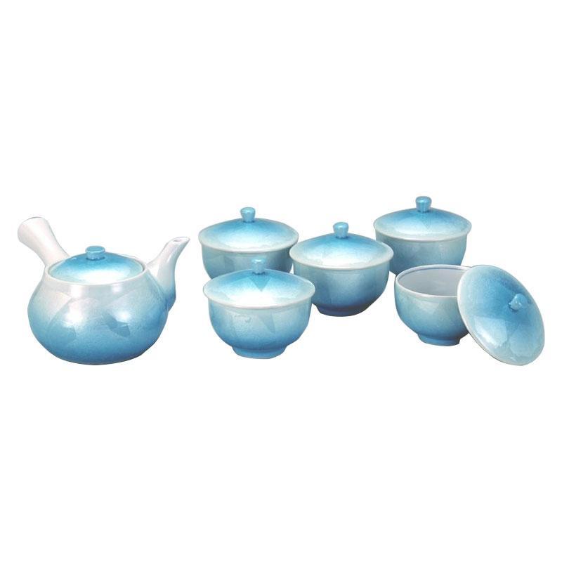 九谷焼 蓋付茶器 銀彩 N137-07