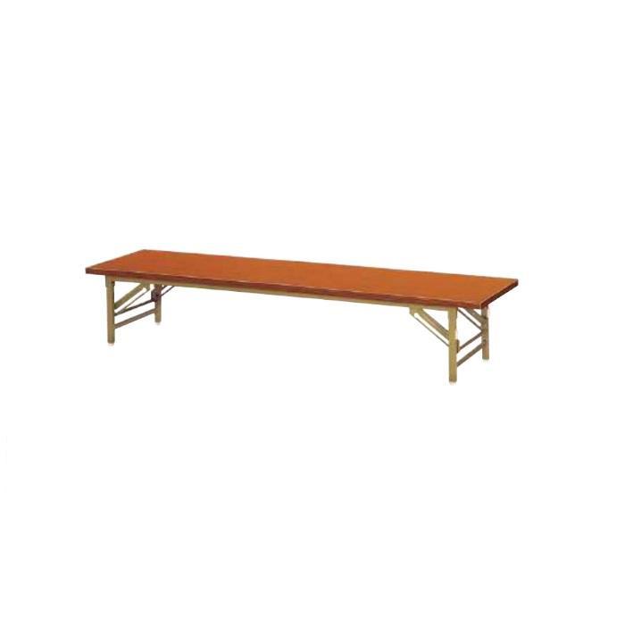 ニシキ工業 ZT FOLDING TABLE テーブル 脚部/ゴールド・天板/チーク・ZT-G1860S-TK [ラッピング不可][代引不可][同梱不可]