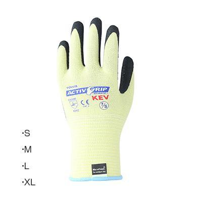 東和コーポレーション(TOWA) ゴム手袋 アクティブグリップケブラーKEV3 12双 7・S [ラッピング不可][代引不可][同梱不可]