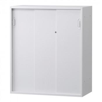 豊國工業 壁面収納庫深型3枚引違い(下置) ホワイト HOS-HKS3DNN BN-90色(ホワイト) [ラッピング不可][代引不可][同梱不可]