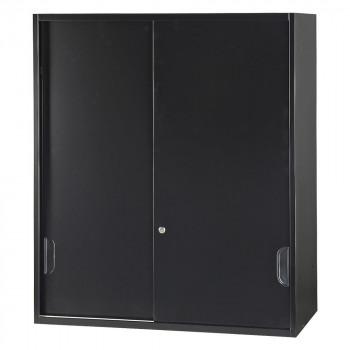 豊國工業 壁面収納庫深型引違い(上置) ブラック HOS-HKSUN-B CN-10色(ブラック) [ラッピング不可][代引不可][同梱不可]