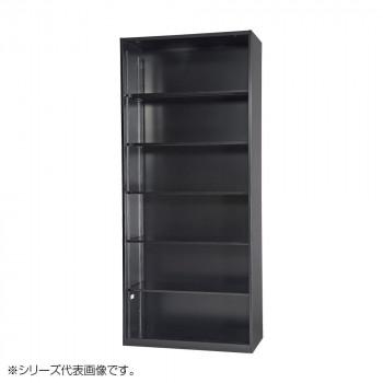 豊國工業 壁面収納庫浅型オープンH2100 ブラック HOS-O2S-B CN-10色(ブラック) [ラッピング不可][代引不可][同梱不可]