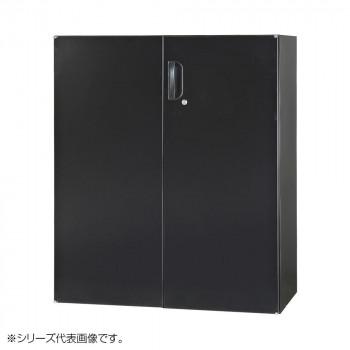 豊國工業 壁面収納庫浅型両開きH1050(下置) ブラック HOS-HRDSN-B CN-10色(ブラック) [ラッピング不可][代引不可][同梱不可]