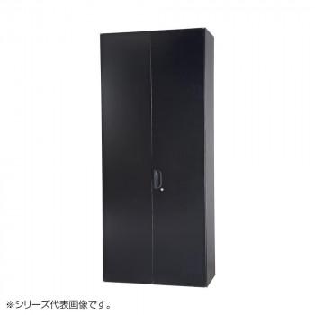 豊國工業 壁面収納庫浅型両開きH2100 ブラック HOS-HRLSN-B CN-10色(ブラック) [ラッピング不可][代引不可][同梱不可]