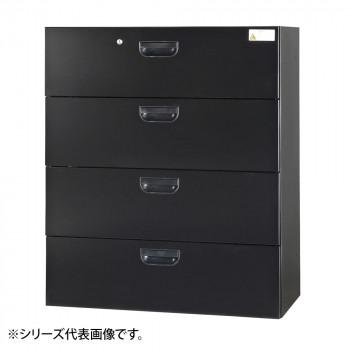 豊國工業 壁面収納庫浅型ラテラル4段 ブラック HOS-L4SN-B CN-10色(ブラック) [ラッピング不可][代引不可][同梱不可]
