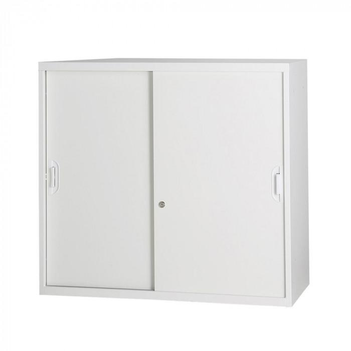 豊國工業 コンビネーション収納庫引き違い 棚板1枚付 ホワイト NHS-H11-W サテンホワイト [ラッピング不可][代引不可][同梱不可]