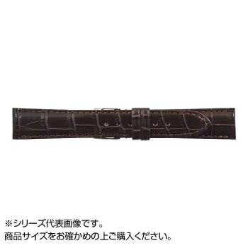 MIMOSA(ミモザ) 時計バンド クロコマット 22cm ブラウン (美錠:銀) WRM-B22