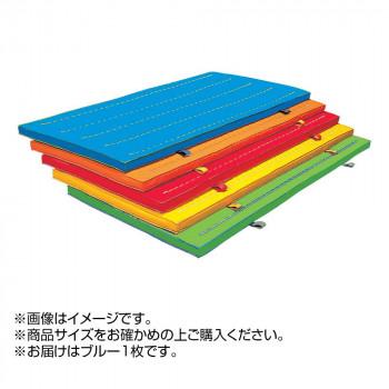 エコカラーコンビマット 5cm厚仕上(スベラーズなし)抗菌 9号帆布 ブルー F380 [ラッピング不可][代引不可][同梱不可]
