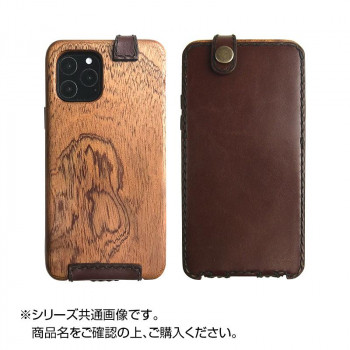 LIFE iPhone11Pro専用ケース 革:こげ茶/紐:黒 ip11pro_fb_dbdb