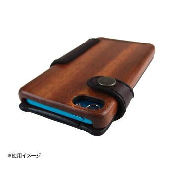 LIFE iPodtouch5/6専用ケース 手帳型 革:こげ茶/紐:黒 touch5/6_lcdbdb_book