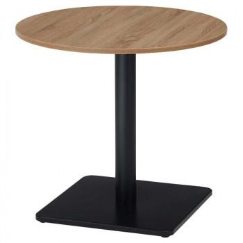オフィス家具 アイアンフレーム カフェテーブル 丸型 Φ75×70cm RGT7575R-KKA [ラッピング不可][代引不可][同梱不可]