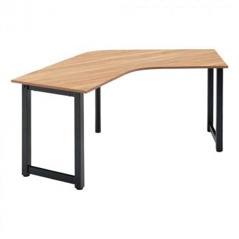オフィス家具 アイアンフレーム ブーメランテーブル 190×60×70cm RGV1960-KKA [ラッピング不可][代引不可][同梱不可]