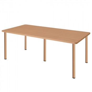 オフィス・施設向け家具 スタンダードテーブル 5脚タイプ ナチュラル UFT-5S1890-NA [ラッピング不可][代引不可][同梱不可]