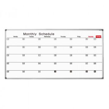 馬印 AXシリーズ 壁掛 スケジュール ホーローホワイトボード W1810×H920 AX36SN [ラッピング不可][代引不可][同梱不可]