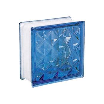 ガラスブロック 95 ダイヤモンド ライトブルー 6個セット [ラッピング不可][代引不可][同梱不可]
