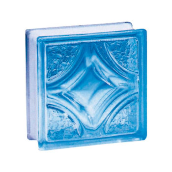ガラスブロック 95 ヴェスタ ライトブルー 6個セット [ラッピング不可][代引不可][同梱不可]