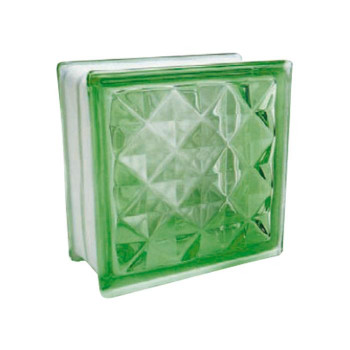 ガラスブロック 95 ダイヤモンド グリーン 6個セット [ラッピング不可][代引不可][同梱不可]